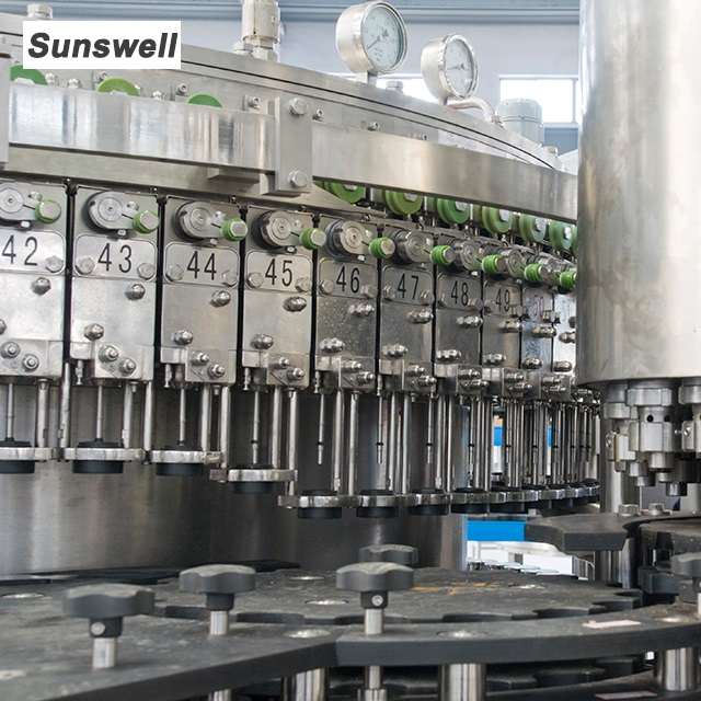 Automatic Glass Bottle Beer / CSD Filling Machine