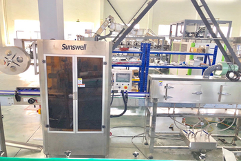 SUNSWELL PE Bottle With Aluminum Foil Rising-Filling-Sealing Machine Will Be Shipped to Customer
